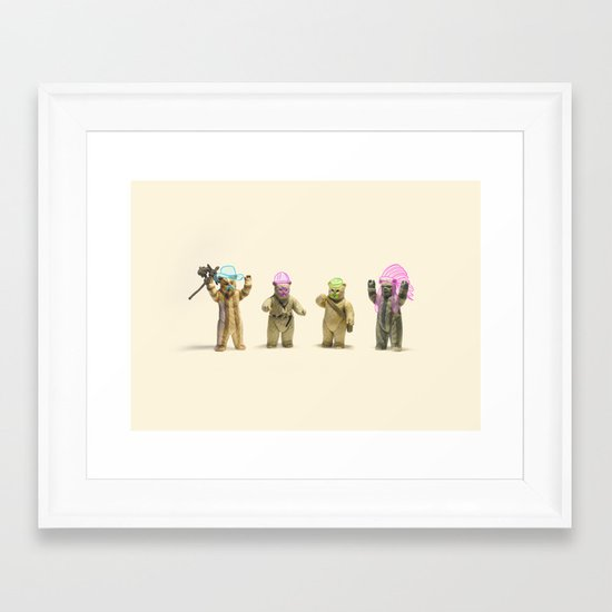 Ewok Village People Framed Art Print