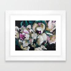Blurred Vision Series - Blush Peonies No. 1 Framed Art Print