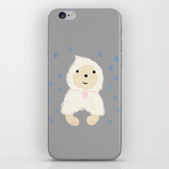 Alternative rain wear(Retriever wears a plastic bag in the rain) iPhone & iPod Skin