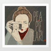 pea pie Pearl Art Print
