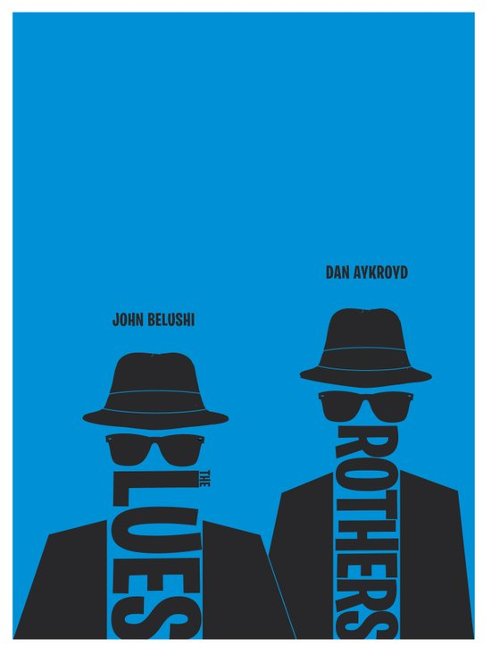 The Blues Brothers minimalist poster Art Print