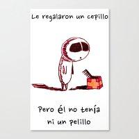 Cepillo Canvas Print