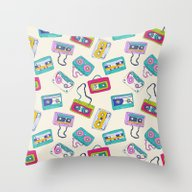 Vintage Cassette Tape Pa… Throw Pillow