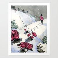 Pink Carnations Art Print