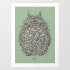 Green Totoro Art Print