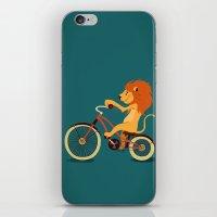 Lion on the bike iPhone & iPod Skin