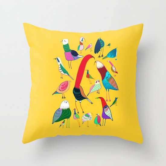 Newport Throw Pillows Birds : Birds Throw Pillow by Ashley Percival Illustrator Society6