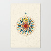 Rose Compass  Canvas Print