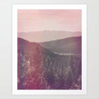 Light Leaked Forest Art Print