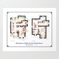 Floorplans Of The House … Art Print