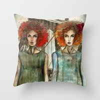 Bridge Owl Throw Pillow