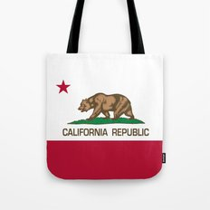 California Republic state flag - Authentic Version Tote Bag