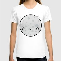 The Moon Womens Fitted Tee White SMALL