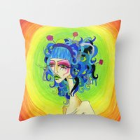 Medusa Has a Candy Coating Throw Pillow