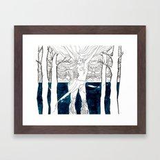 Druid Tree Framed Art Print