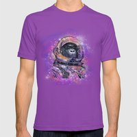 Deep Space Monkey Mens Fitted Tee Ultraviolet SMALL