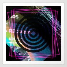Abstract Record Label Art Print