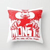 Game monster  Throw Pillow