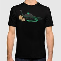 Dinosaur cosplay Mens Fitted Tee Black SMALL