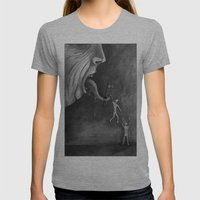 The claim on freedom Womens Fitted Tee Athletic Grey SMALL