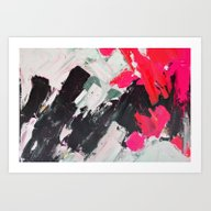 Hot Pink Franz Art Print