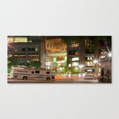 Columbus Circle @ Night Canvas Print