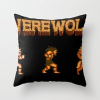 Unleash the beast- werewolf tribute Throw Pillow