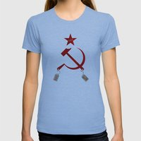 Communism vs. Capitalism Womens Fitted Tee Athletic Blue SMALL