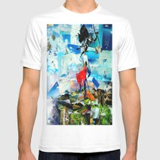 BAT VS. GOD Mens Fitted Tee SMALL White