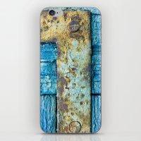 Rotten blue shutter detail iPhone & iPod Skin
