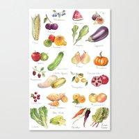 Calendar July-Dec Canvas Print