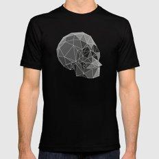 Geometric skulls Mens Fitted Tee Black SMALL