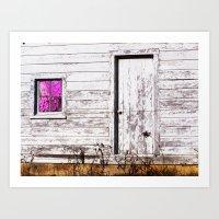 Siler City Barn With Zin… Art Print