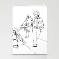 Pepper Spray(Illustration for Police Brutality Coloring Book) Stationery Cards