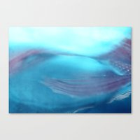 Under The Sea~ Aqua/salm… Canvas Print