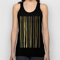 Vertical Living Navy and Gold Unisex Tank Top