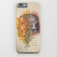 Lady and a skull iPhone 6 Slim Case