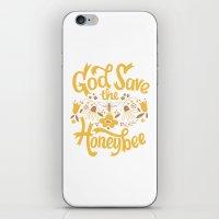 God Save the Honeybee iPhone & iPod Skin