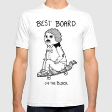 Hands down, he had the best board on the block.  SMALL White Mens Fitted Tee