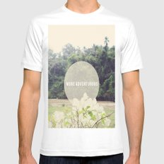More Adventurous Mens Fitted Tee SMALL White