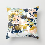 Sloane - Abstract Painti… Throw Pillow