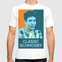 Classic Schmosby Mens Fitted Tee White SMALL