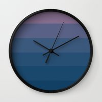 Lavender's Blue Ombre Wall Clock