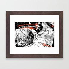 Assault on Sector 11: The Sparkle Dimension Framed Art Print