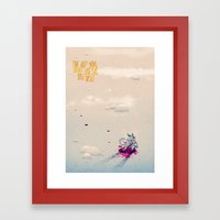 The Boy Who Carried the Big Bad Wolf Poster Framed Art Print