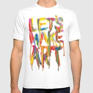 LET'S MAKE ART Mens Fitted Tee White SMALL