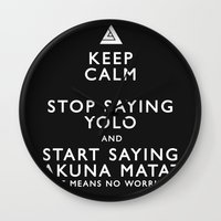 Keep Calm Forget YOLO - … Wall Clock