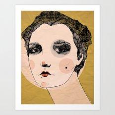 long neck Art Print