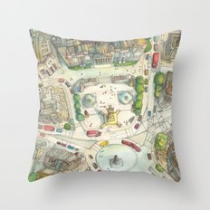 Trafalgar Square Throw Pillow