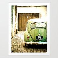 Mrs Olive Green Art Print